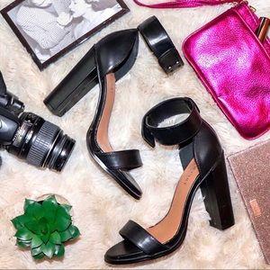 Nasty Gal Shoe Cult Black Ankle Strap Heels